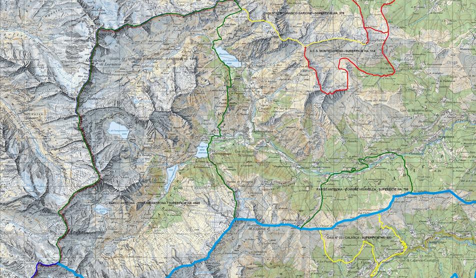 Cartina parco Antrona